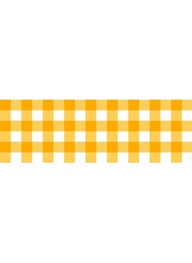 Artikel Sarı Mini Kare Desenli Runner Masa Örtüsü 43,5X141,5Cm Renkli